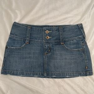 Express denim mini skirt size 0